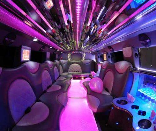 Cadillac Escalade limo interior