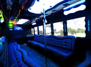 40 people party bus West Raleigh