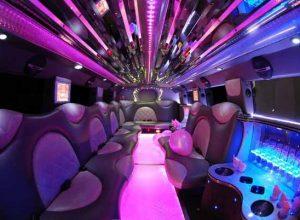 Cadillac Escalade limo interior Rolseville