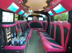 pink hummer limousine Rolseville