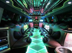 Hummer limo interior Fayetteville